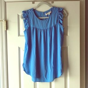 Ann Taylor LOFT ruffle sleeveless blouse